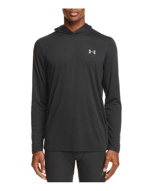 Under Armour | Black Threadborne Streaker Pullover Hoodie Sweatshirt for Men | Lyst