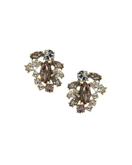 Marchesa | Metallic Cluster Button Stud Earrings | Lyst