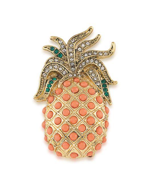 Carolee | Multicolor Pineapple Brooch | Lyst