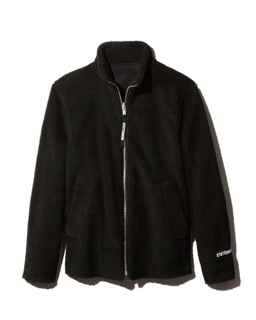 Stutterheim - Black Varby Fleece Jacket for Men - Lyst