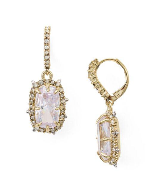 Alexis Bittar - Metallic Swarovski Crystal Earrings - Lyst