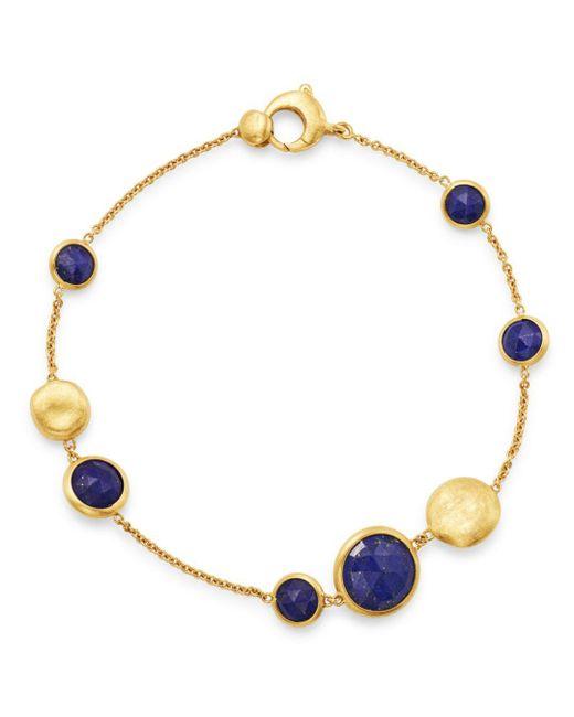 Marco Bicego - Metallic 18k Yellow Gold Jaipur Lapis Station Bracelet - Lyst