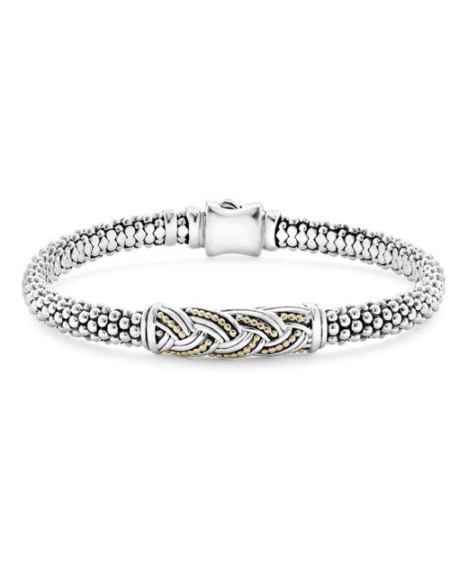 Lagos - Metallic 18k Gold & Sterling Silver Torsade Small Station Bracelet - Lyst