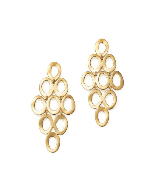 Ippolita - Metallic 18k Yellow Gold Open Cascade Earrings - Lyst