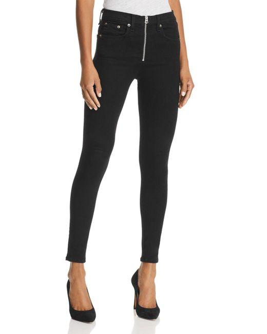 Rag & Bone - Onslow High-rise Skinny Jeans In Black - Lyst