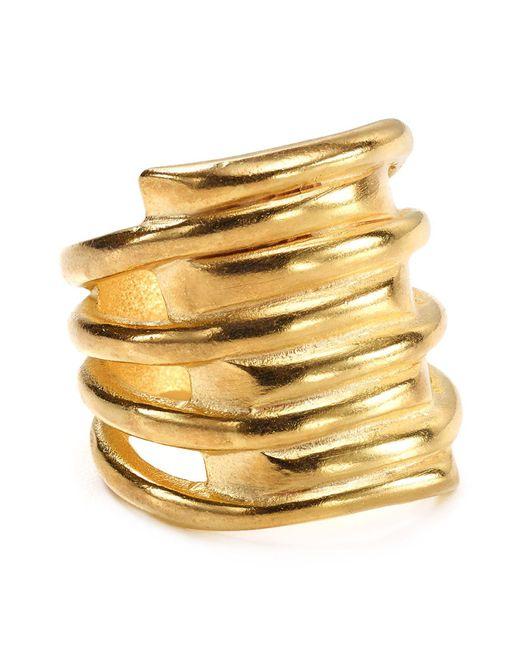Uno De 50   Metallic Tornado Ring   Lyst