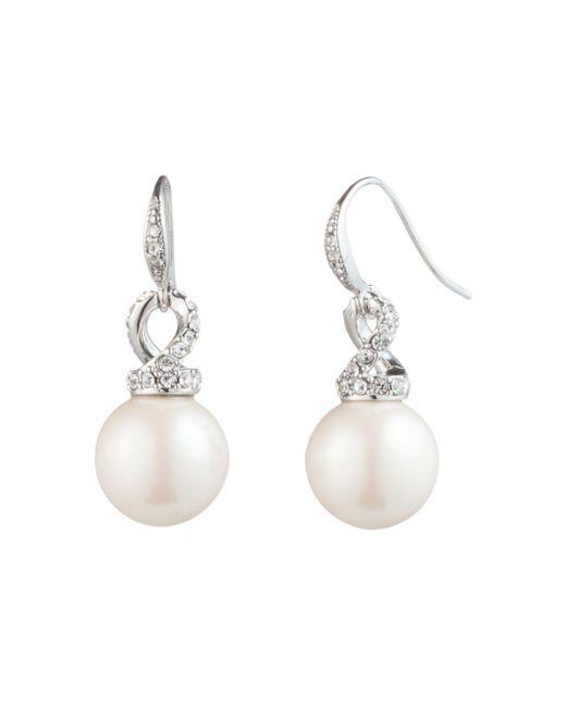Carolee - Multicolor Simulated Pearl Drop Earrings - Lyst