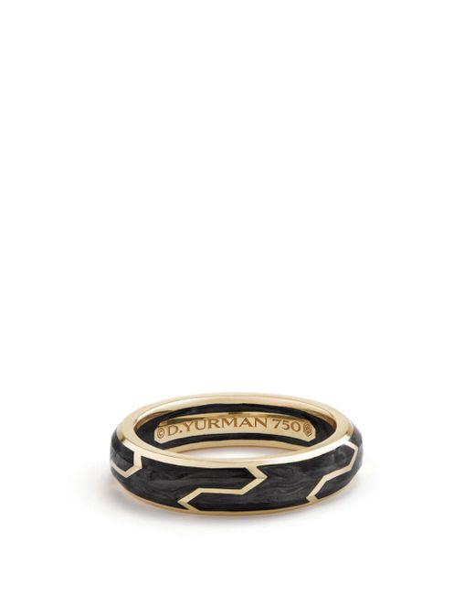 David Yurman - Metallic Men's Forged Carbon Band Ring In 18k Gold for Men - Lyst