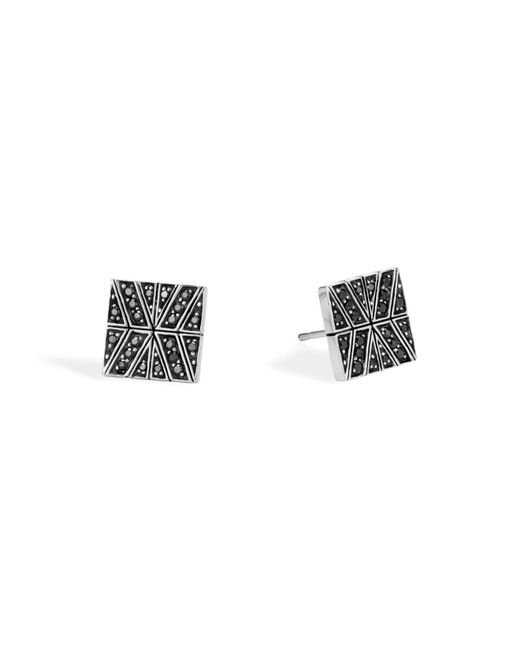 John Hardy | Sterling Silver Modern Chain Stud Earrings With Black Sapphire | Lyst