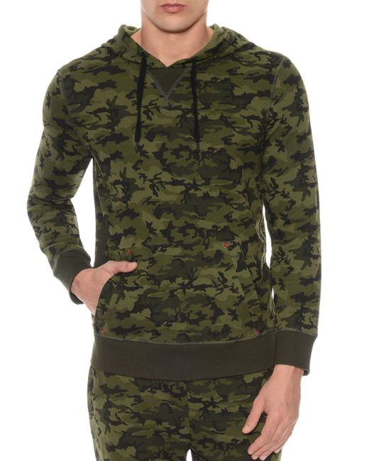2xist - Green Camouflage Terry Pullover Hoodie Lounge Sweatshirt for Men - Lyst