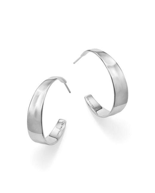 Ippolita - Metallic Sterling Silver Sensotm Tapered Hoop Earrings - Lyst