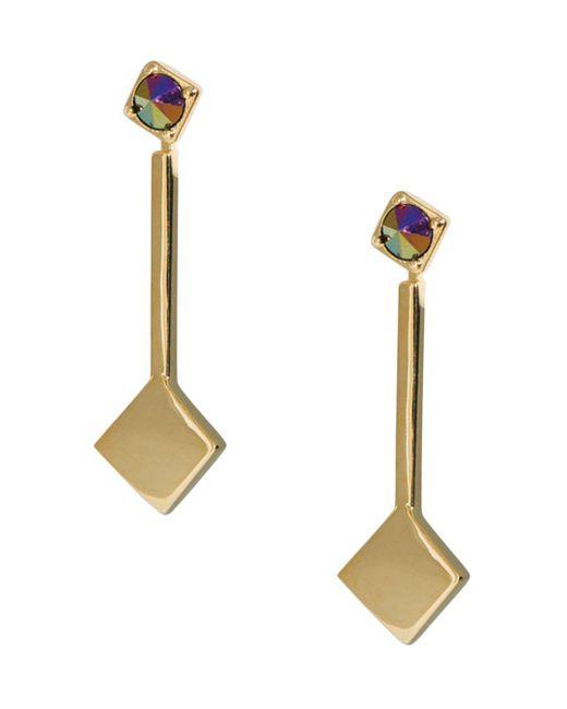 Trina Turk - Metallic Linear Drop Earrings - Lyst