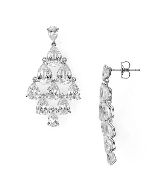 Nadri - Metallic Drop Chandelier Earrings - Lyst