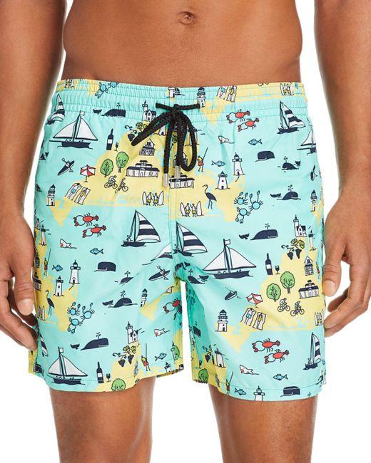 d4b2512110501 Vilebrequin - Blue Moorea Martha's Vineyard - Print Swim Shorts for Men -  Lyst ...