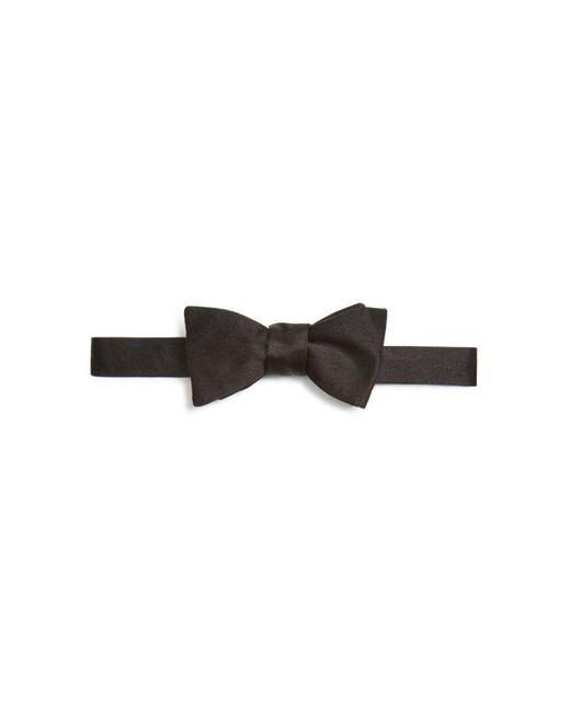 Turnbull & Asser - Black Satin Bow Tie for Men - Lyst
