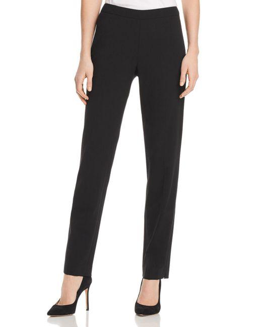 Lafayette 148 New York - Black Bleecker Straight-leg Pants - Lyst