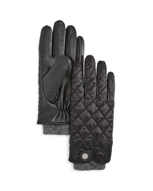 Polo Ralph Lauren | Black Quilted Field Glove for Men | Lyst