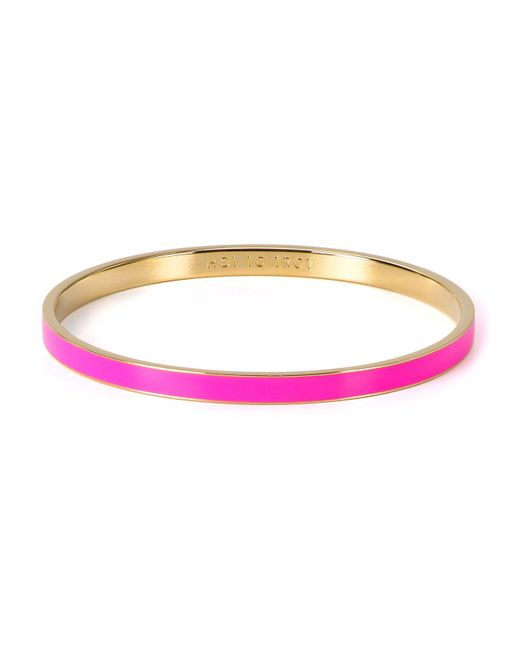 Kate Spade - Pink Hot To Trot Idiom Bangle - Lyst