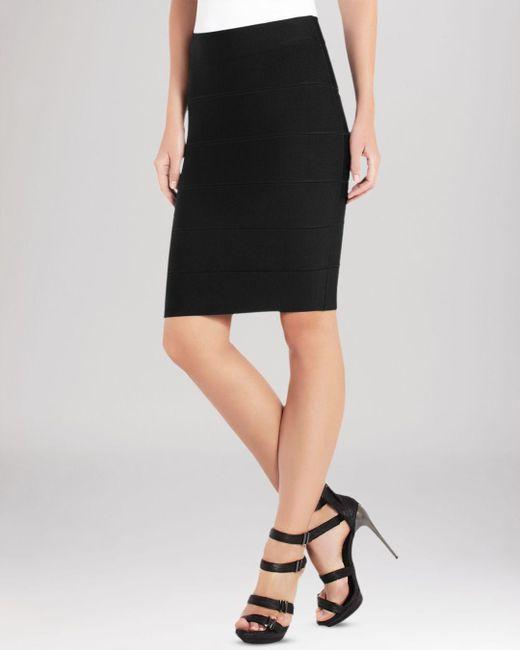 BCBGMAXAZRIA - Black Skirt - Alexa Knit - Lyst