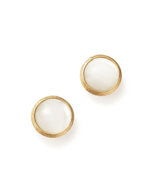 Marco Bicego - Metallic 18k Yellow Gold Jaipur Mother-of-pearl Stud Earrings - Lyst