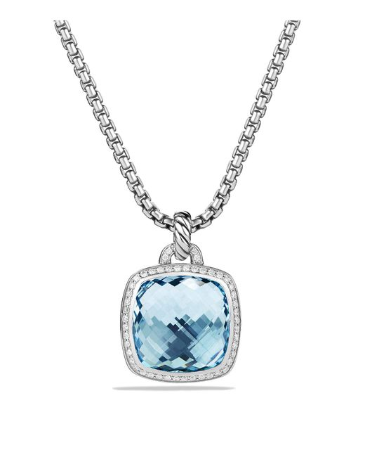 David Yurman - Albion Pendant With Blue Topaz & Diamonds - Lyst