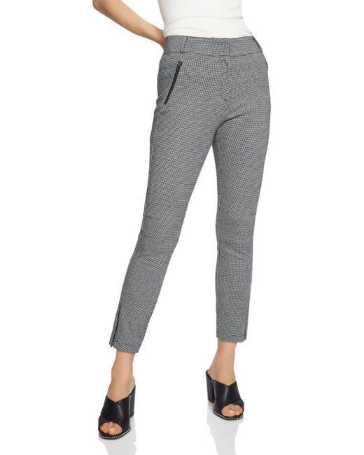 1.STATE - Black Mini Houndstooth Slim Pants - Lyst