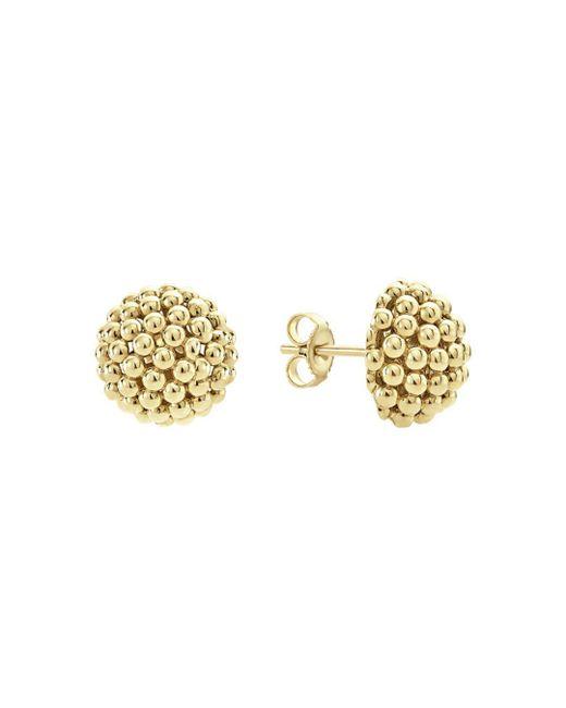Lagos - Metallic Caviar Gold Collection 18k Gold Stud Earrings - Lyst