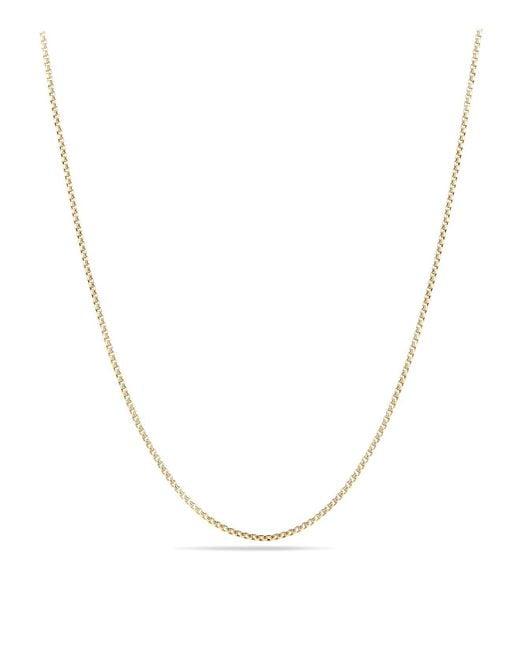 David Yurman | Metallic Box Chain Necklace In 18k Yellow Gold | Lyst