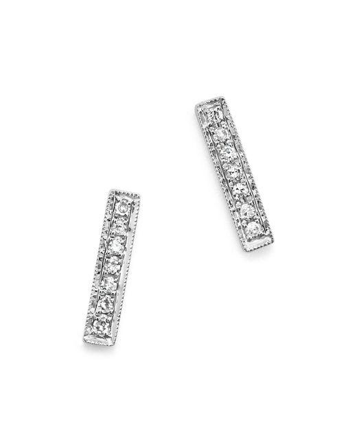 Dana Rebecca   14k White Gold Bar Stud Earrings With Diamonds   Lyst