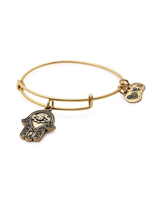 ALEX AND ANI | Metallic Hand Of Fatima Expandable Wire Bangle | Lyst