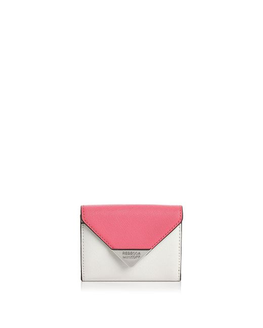 Rebecca Minkoff - Pink Molly Metro Leather Card Case - Lyst