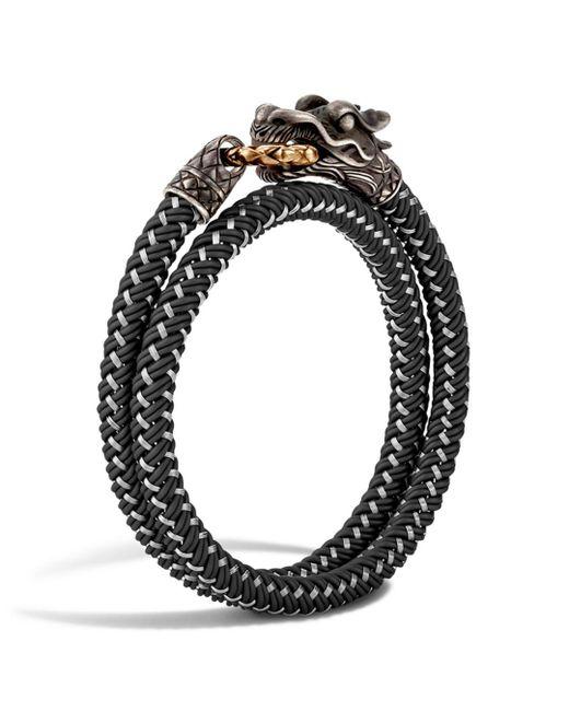 John Hardy - Black Men's Naga Double Wrap Dragon Cord Bracelet for Men - Lyst