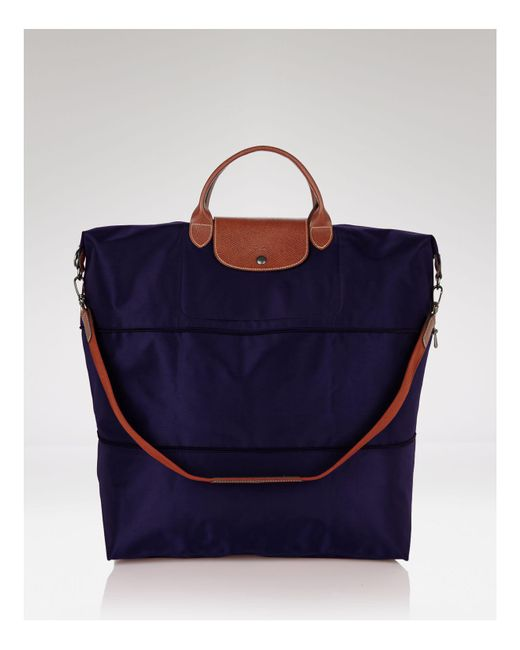 Longchamp | Blue Le Pliage Expandable Travel Duffel Weekender | Lyst
