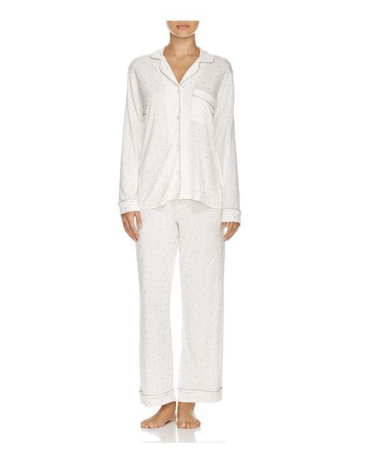 Eberjey - White Sleep Chic Long Pajama Set - Lyst