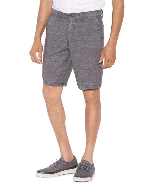 John Varvatos - Gray Regular Fit Shorts for Men - Lyst