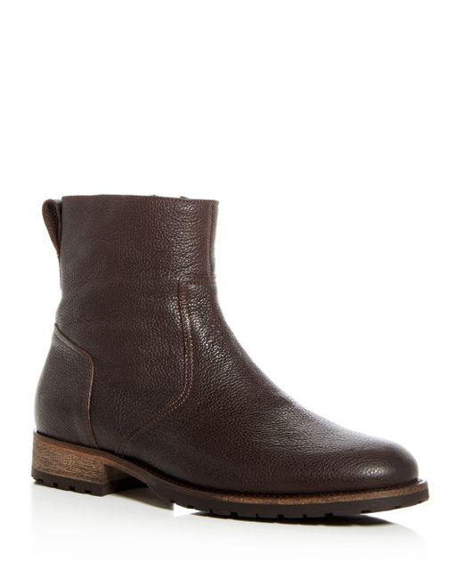 Belstaff - Brown Men's Atwell Pebbled Leather Boots for Men - Lyst