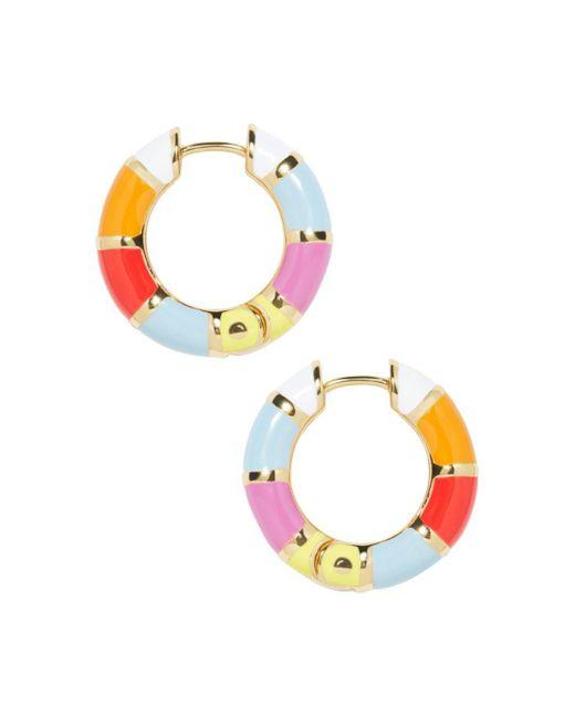 BaubleBar - Multicolor Manila Stripe Hoop Earrings - Lyst