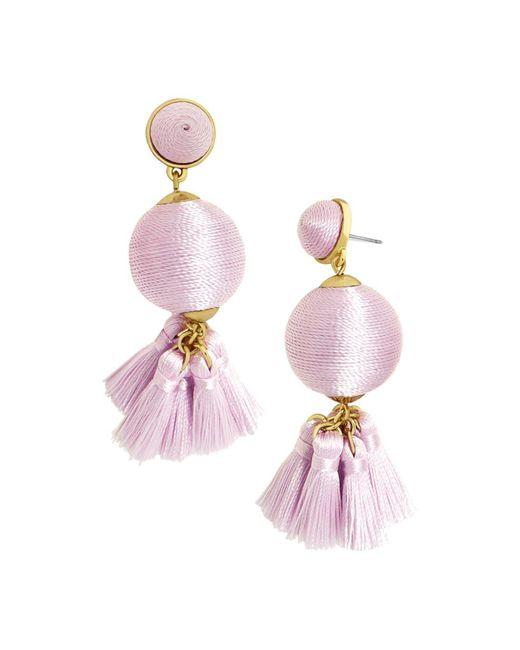 BaubleBar | Purple Samba Ball Drop Earrings | Lyst