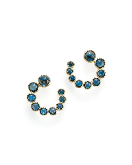 Ippolita | 18k Gold Lollipop Spiral Stone Earrings With London Blue Topaz | Lyst