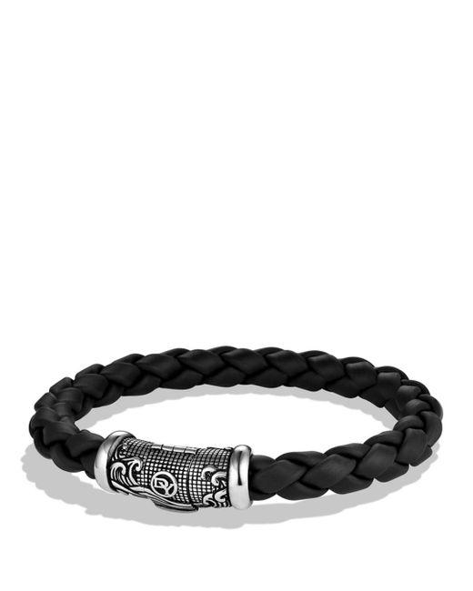 David Yurman - Metallic Waves Bracelet In Black for Men - Lyst
