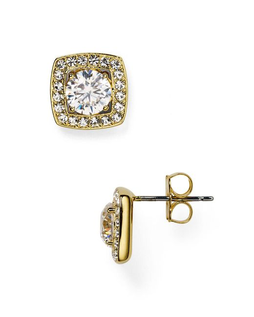 Nadri - Metallic Swarovski Crystal Stud Earrings - Lyst