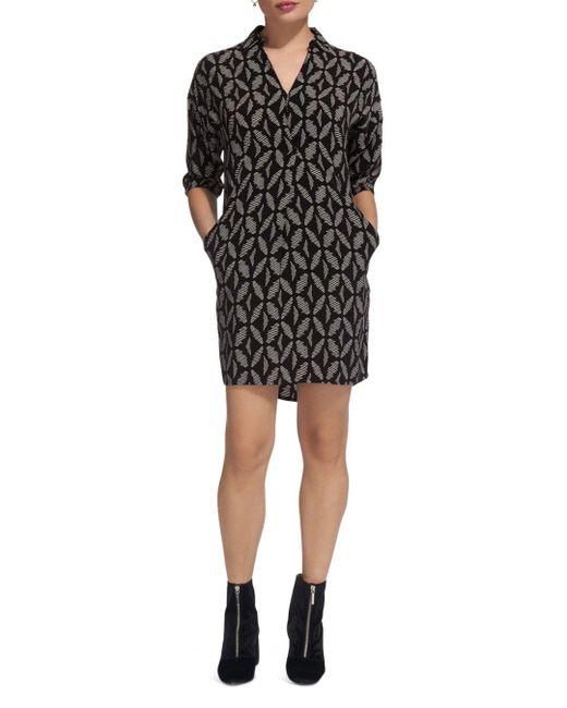Whistles - Black Lola Geo-print Dress - Lyst
