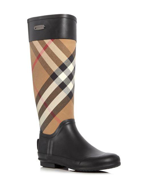 Burberry - Black Clemence Rubber Rainboots - Lyst