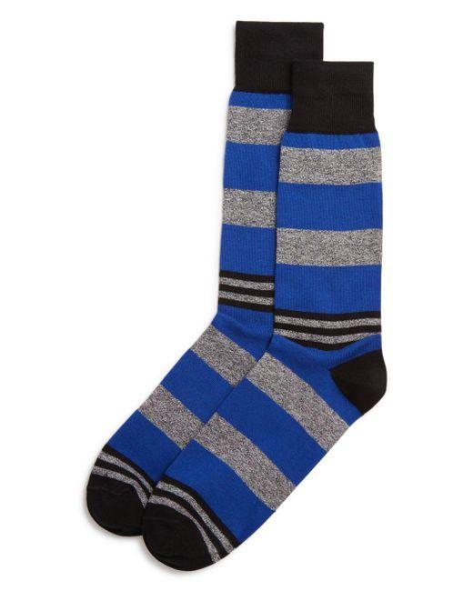 Bloomingdale's - Blue Striped Socks for Men - Lyst