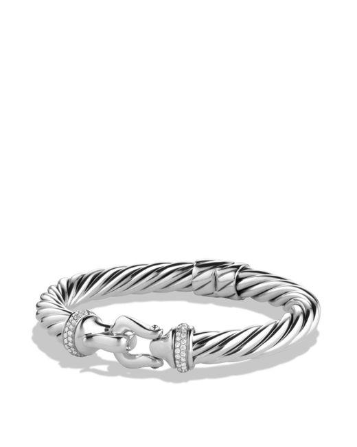 David Yurman - Metallic Buckle Cable Bracelet With Diamonds - Lyst