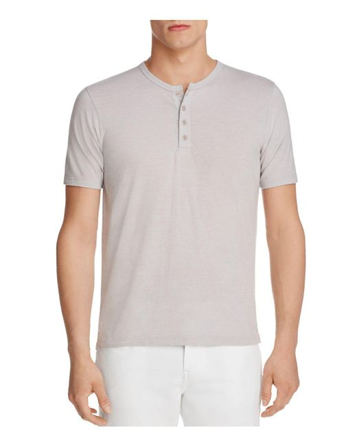 Goodlife | Gray Heathered Henley Tee for Men | Lyst