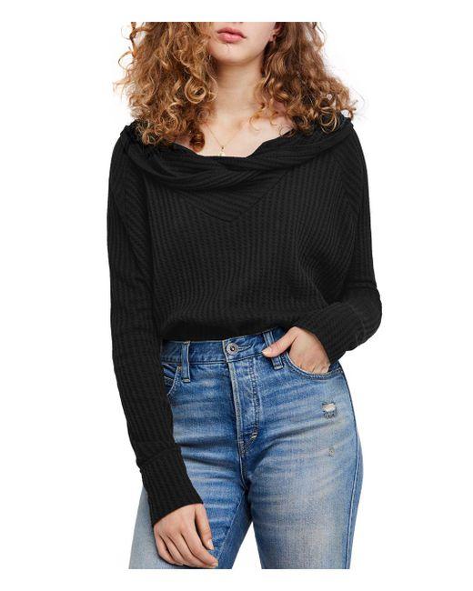 Free People - Black Wildcat Thermal Sweater - Lyst
