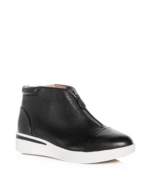 Gentle Souls | Black Women's Hazel-fay Leather Wedge Sneaker Booties | Lyst