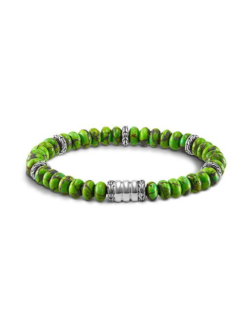 John Hardy - Green Mohave Bedeg Men's Beaded Bracelet for Men - Lyst