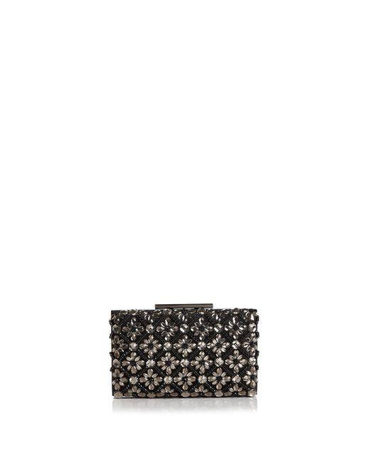 Sondra Roberts - Black Jeweled Satin Box Clutch - Lyst